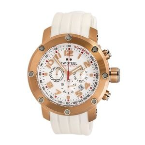 Tw Steel Chronograph White Dial Men's Watch